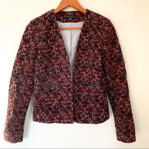 Ann Taylor red marled wool blend blazer, XS